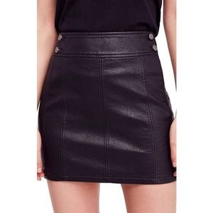 NWT Free People faux leather mini skirt